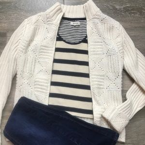 Madewell Coastland Cropped Stripe Sweater Tank